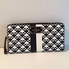 NEW AUTH KATE SPADE NEDA PENN PLACE BLACK WOMENS WALLET.WLRU2424
