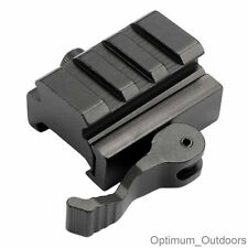 3 Slot QD Lever 20mm Weaver Picatinny Rail Riser Base Scope Mount Quick Detach