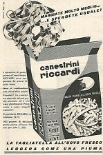 W8970 Canestrini RICCARDI - Pubblicità del 1958 - Vintage advertising