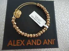 Alex and Ani TRAVELER BEADED Rafaelian Gold Finish Bangle New W/ Tag Card & Box
