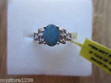 Australian Boulder Opal Tanzanite Ring Platinum Overlay Sterling Silver Size 7