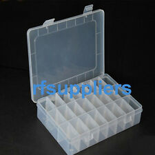 Adjustable Plastic Storage Box 24 Compartment Jewelry Case Container 19.5*13*3.5