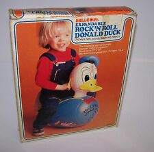 Disney Donald Duck Expandable Rock N Roll Inflatable Blow Up New Vintage 1981