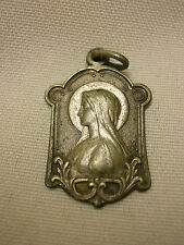 "Vintage Religious Medal Mother Mary Charm 1"" Made in France Ornate"