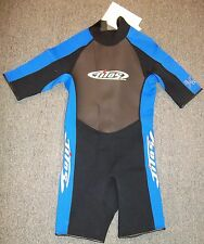 Tilos Titanium Wetsuit Shorty Men's Adult S SMALL Black Blue 2mm Scuba Dive NWT