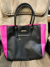 Large Juicy Couture Hot Pink & Black Tote Bag Purse Satchel