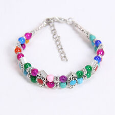 NEW DIY Tibetan silver Colorful fashion beaded bracelet free shipping S167