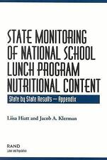 State Monitoring of National School Lunch Program Nutritional Content: State by