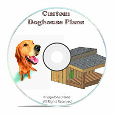 "Custom Design Insulated Dog House Plans, Large Dogs, St. Bernard, 72"" Wide, CD"