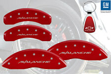2007-13 Chevrolet Avalanche Red Brake Caliper Cover Front Rear Keychain INSTOCK
