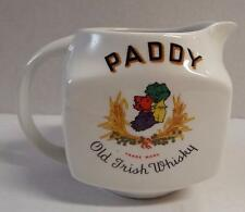 VTG PADDY OLD IRISH WHISKY IRELAND MAP PUB JUG PITCHER CORK DISTILLERIES ARKLOW