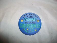 Vintage Hallmark 1979 Graduation Adds Pomp Pin Button