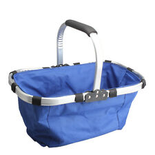 Waterproof Foldable Eco-friendly Reusable Shopping Bag Grocery Basket Blue Bag