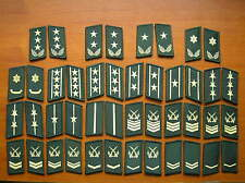 07's series China PLA Army Camouflage Uniform Collar Rank Badge,set,22 Pair
