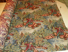 Fly Fishing Print Tapestry Upholstery Fabric 1 Yard  R365