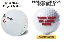 3 Dozen Taylor Made Project A 2016 Mint Customized Golf Balls Text / Image