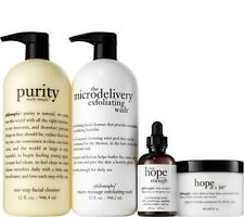 philosophy 4-piece iconic skincare collection Purity Exfoliating Wash Serum More