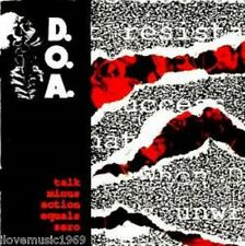 D.O.A. Talk - Action = 0 NEW 1991 CASSETTE TAPE SEALED MINT SS FREE US SHIPPING