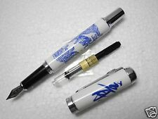 1pcs JINHAO 950 Dragon Fountain pen with converter free 5pcs cartridges Black