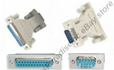 Lot10 DB25 Female Jack~DB9pin Male Plug cable/cord/wire Adapter RS232 Serial{TT
