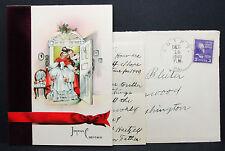 US Postal History Cover Egypt Bleiber Christmas Card Inside USA Brief (H-7300