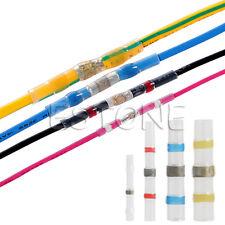 100pcs 26-10 AWG Waterproof Solder Sleeve Heat Shrink Butt Wire Splice Connector