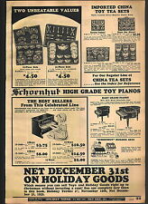 1932 ADVERTISEMENT Schoenhut Toy Play Piano Baby Grand Builders Sets Tea Sets