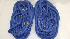"NEW Pair (2) 3/4"" x 20' Double Braid Nylon Dock Line, Mooring, Anchor Rope, Boat"