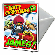 ANGRY BIRDS GO Personalised Christmas Card! FREE 1st Class Shipping! CHRLAS16