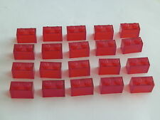 Lego 3065# 20x Basic Stein 1x2 Transparent rot 7163 9476