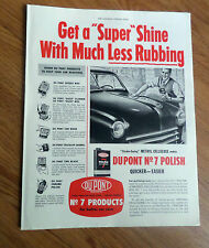 1950 DuPont Car Wax Ad   Chevrolet Dodge Plymouth Ford ?