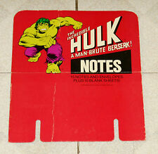 vintage THE INCREDIBLE HULK NOTES stationery retail store COUNTER DISPLAY
