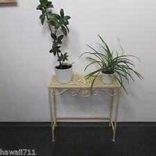 Beistelltisch Blumenbank Eisen Metall-Bank Blumenhocker Garten Tisch