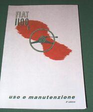Uso e manutenzione Fiat 1100 E Musone