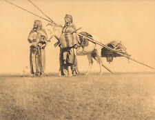 "EDWARD CURTIS Indian Tribe ""BLACKFOOT TRAVOIS"" Native American Photo Book Print"