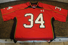 Maryland Terrapins Terps Red Under Armour Football Jersey #34 Mens Large UA NWT