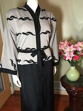 Fancy Khaleeji Abaya Arabic Button Up Half Open Jilbab Dubai Made Size M 56