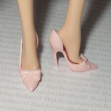 * SHOES ~BARBIE LOOK DOLL MODEL MUSE PARTY PERFECT PINK BOW PUMPS HIGH HEELS