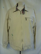 Mens Coat - Kickers Original, size M, beige, cotton, zip up, light marks - 8072
