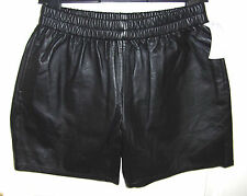 EVERY DAY COUNTS(£129RRP) Ladies Soft Black Leather Shorts Size Small  - BNWT