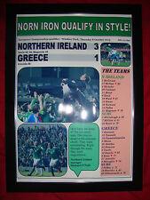 Irlanda del Norte 3 Grecia 1 - 2015-Euro 2016 calificador-enmarcado impresión