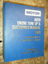 1988-91 MOTOR AUTO TUNE UP ELECTRONICS SERVICE MANUAL FORD DODGE CHRYSLER EAGLE