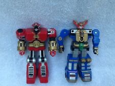 "Lot Of 2 Mighty Morphin Power Rangers Zeo Megazord Red 5"" Action Figure 1996"