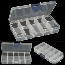 New Empty Storage Container Box Case for Nail Art Tips Rhinestone Gems CS