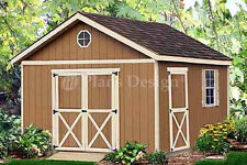 Shed Plans for 12 x 16 Structure Building Blueprints / Gable Shed Plans #21612