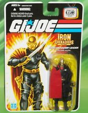 G I GI JOE 25TH ANNIVERSARY IRON GRENADIERS GOLD HELMET DESTRO &SWORD FIGURE MOC