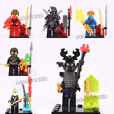 6pcs Ninjago Super hero General Cryptor Kai Jay Cole Zane Fits Lego Mini Figures