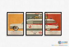 "Ecto 1 Ghostbusters car Mondo Style Poster Artwork - 3 x 16""x12"" Quality Prints"