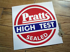"PRATTS High Test Sealed Circular STICKER 8"" Motor Oil Petrol Pump Gas Fuel Globe"