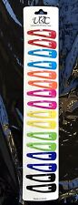 Girls Colorful Metal Clip Snap Hair Clips Tic Tac Barrettes Assorted Brand NEW !
